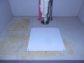 施工後 洗面台下開口部修繕