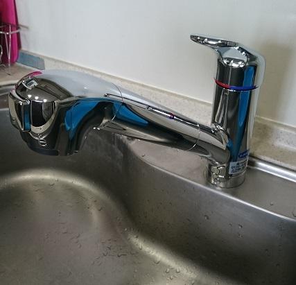 施工後 タカギ混合水栓