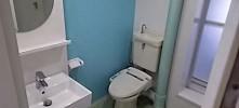 施工後 洗面室トイレ床