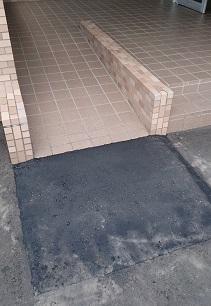 施工後 玄関アプローチ段差解消