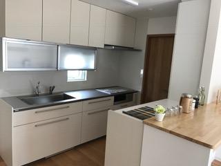 施工後 システムキッチン設置