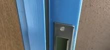 施工後 玄関ドアストライク交換
