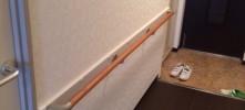 施工後 玄関からの手摺