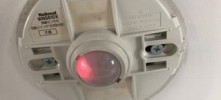 人感センサー 親機は点灯している