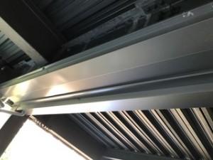 施工後 鋼板設置水滴落下防止工事