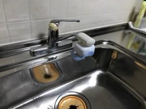 施工前 台所水栓金具既存品