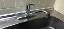 施工後 キッチン水栓金具交換