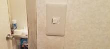 施工後 トイレ電源スイッチ交換工事