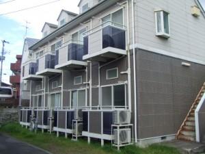 アパート外壁の塗装・修繕 施工前①