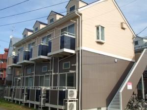 アパート外壁の塗装・修繕 施工後①