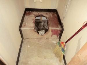 トイレ取外し 施工中