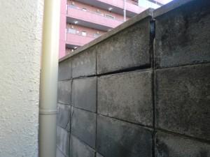 仙台リフォーム事例 ブロック塀破損状況①
