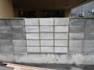 ブロック積施工後
