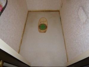トイレ施工中 既存撤去