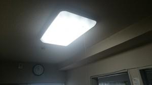 LED照明交換 施工後 点灯後