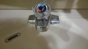 施工前 洗面化粧台水栓