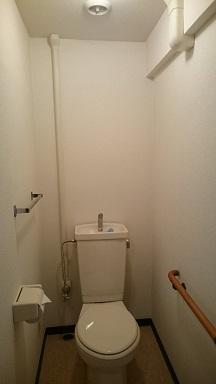 施工後 トイレ内壁クロス貼替