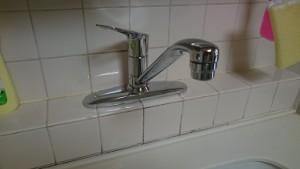 施工後 キッチン混合栓