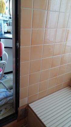 施工前 浴室 壁