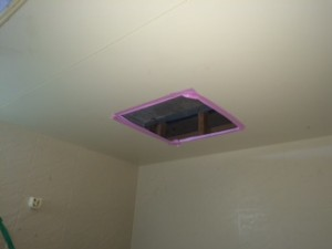 施工中 天井開口