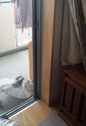 施工前 掃出窓付近