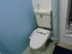 施工中 トイレ