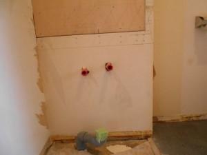 施工中 脱衣室洗面台