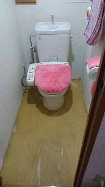 施工前 トイレ床