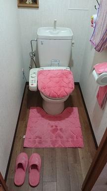 施工後 トイレ床貼替