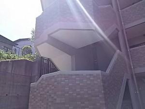 施工前 マンション外部階段