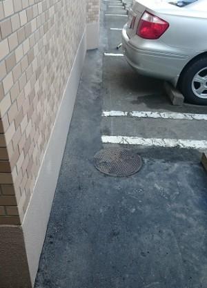 施工後 駐車場仕上コンクリート敷