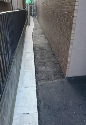 施工後 U字溝廻りコンクリート仕上