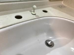 施工中 水栓金具既存取り外し