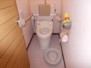 施工後トイレ交換 手すり取付