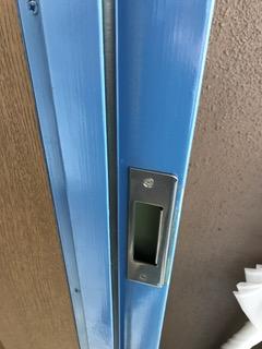 施工後 マンション玄関ドアストライク交換