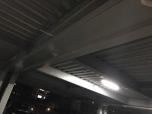 施工後 駐車場天井鋼板取付
