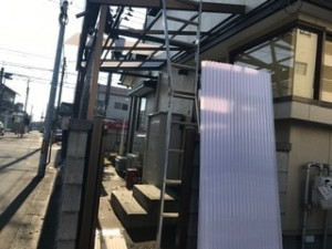 リフォーム施工中 既存の屋根を撤去