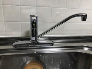 施工後 台所水栓金具交換後