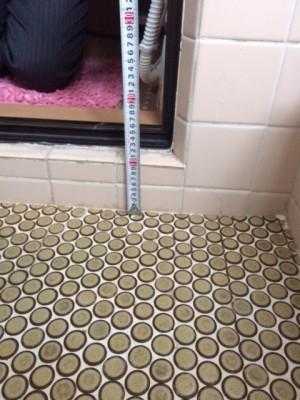 施工前 浴室段差