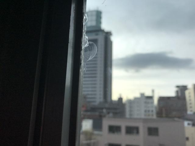 施工前 ガラス破損