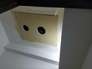 施工中 天井ボード張り