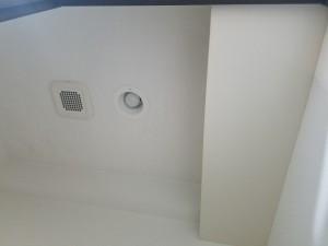 施工完了 漏水部 ボード張替、クロス貼替