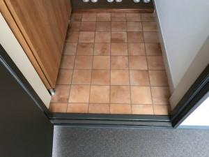 施工完了 玄関クッションフロア貼替え