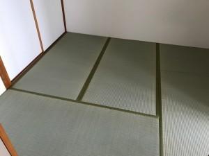 施工完了 和室畳表替え