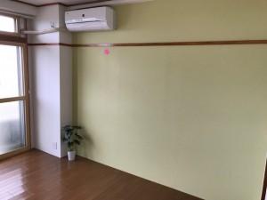施工完了 西側洋室壁クロス貼替、既存エアコン復旧