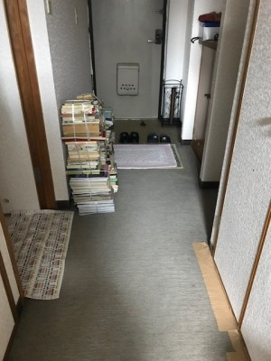 施工前 廊下床