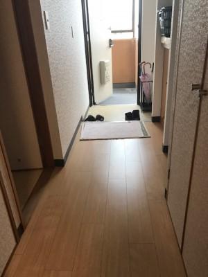 施工後 廊下床