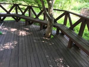 リフォーム前 木陰のベンチ