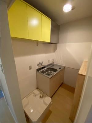 キッチン・洗濯機置き場施工後