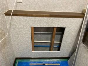 配管入れ替え施工中 キッチン給水給湯管繋ぎ